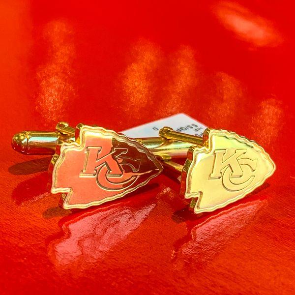 KC Chiefs Gold Cuff Links