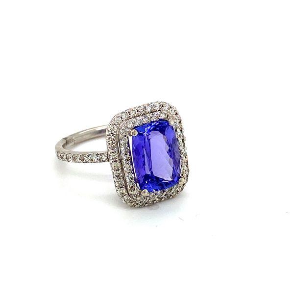 Tanzanite and Diamond Halo Ring Image 2 Toner Jewelers Overland Park, KS
