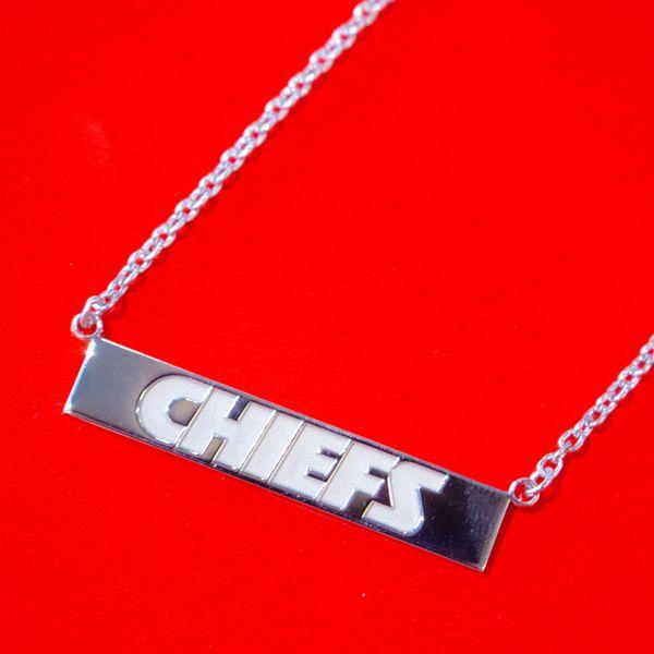 Kansas City Chiefs Silver Bar Necklace Toner Jewelers Overland Park, KS