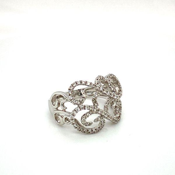 Diamond Scrollwork Ring Image 2 Toner Jewelers Overland Park, KS