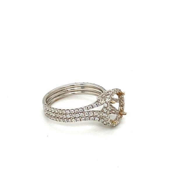 Triple Diamond Shank Engagement Ring Setting Image 3 Toner Jewelers Overland Park, KS
