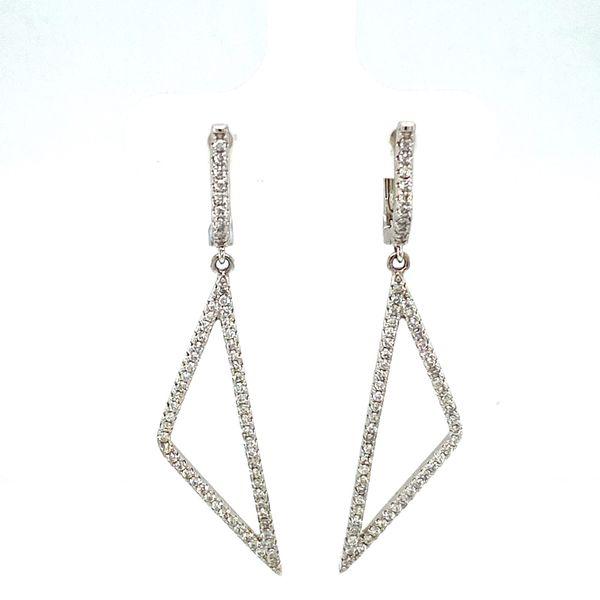 Diamond Triangle Earrings Toner Jewelers Overland Park, KS