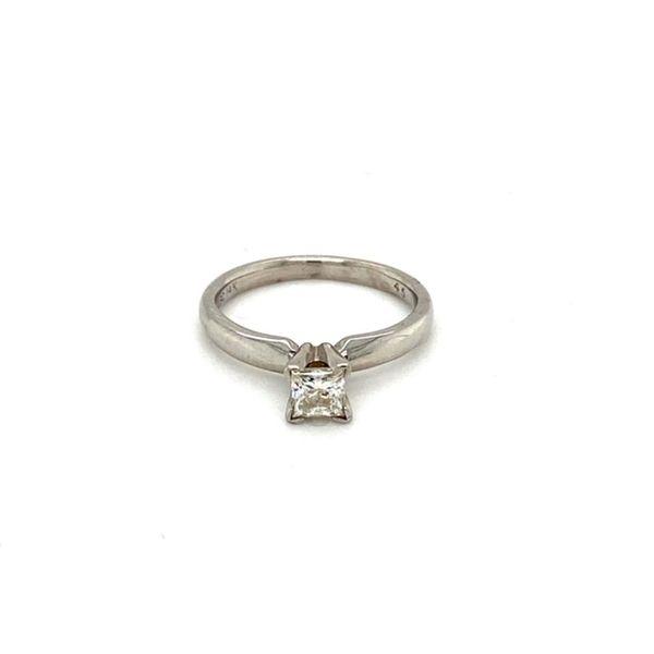 Princess Cut Solitaire Diamond Engagement Ring Toner Jewelers Overland Park, KS