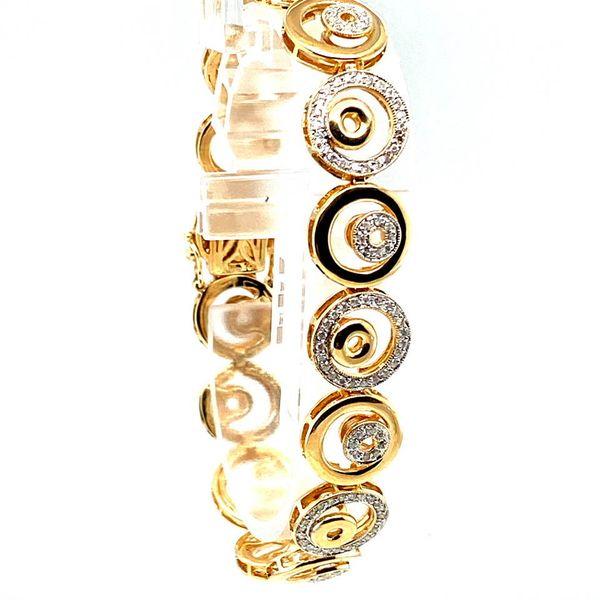 Estate Yellow Gold Diamond Circle Bracelet Image 2 Toner Jewelers Overland Park, KS