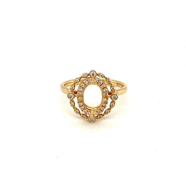 Diamond Engagement Ring Setting with Vintage Halo Toner Jewelers Overland Park, KS