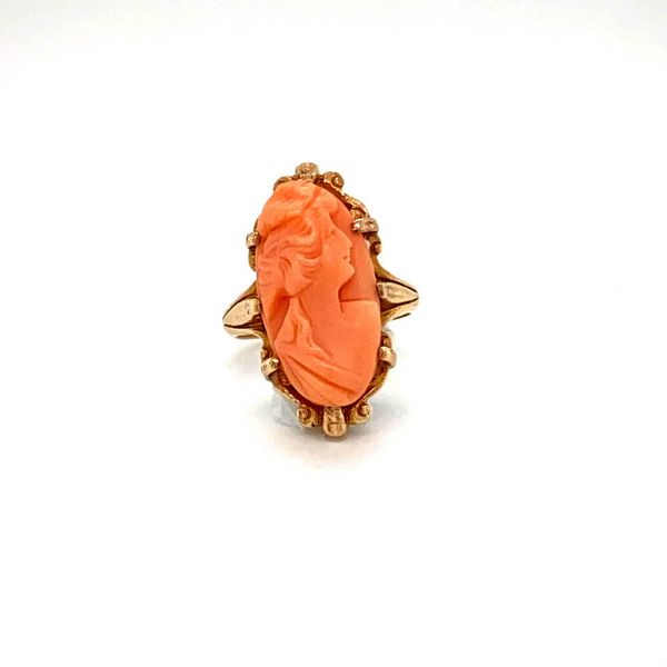Lady's Vintage Coral Ring Toner Jewelers Overland Park, KS