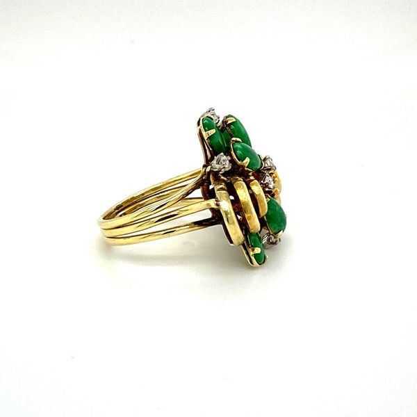 Lady's Estate Jade and Diamond Ring Image 3 Toner Jewelers Overland Park, KS