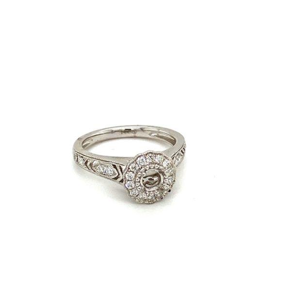 Diamond Engagement Ring Setting with Flower Halo Image 2 Toner Jewelers Overland Park, KS