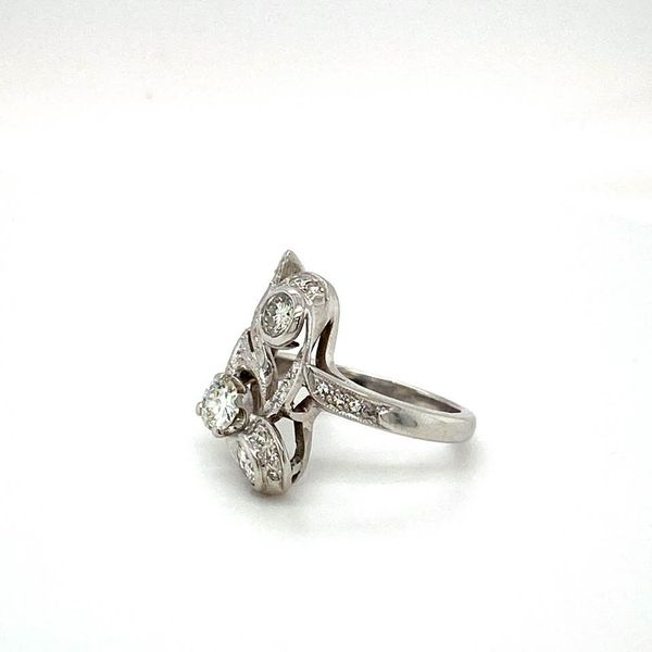 Vintage Floral Estate Diamond Ring Image 3 Toner Jewelers Overland Park, KS