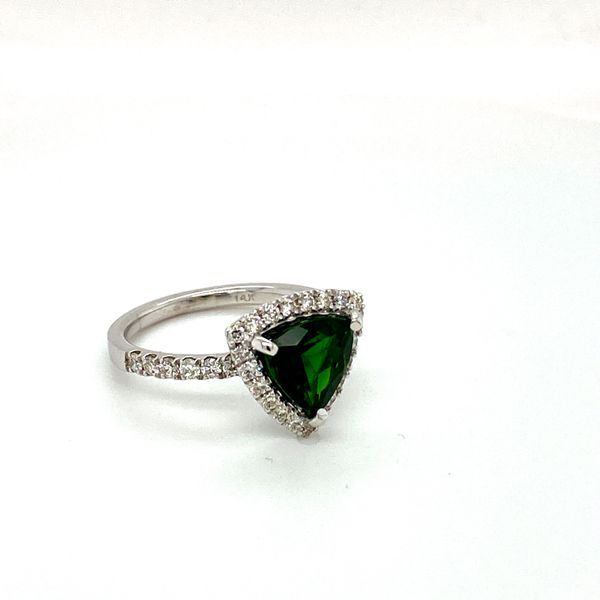 Chrome Diopside and Diamond Ring Image 3 Toner Jewelers Overland Park, KS