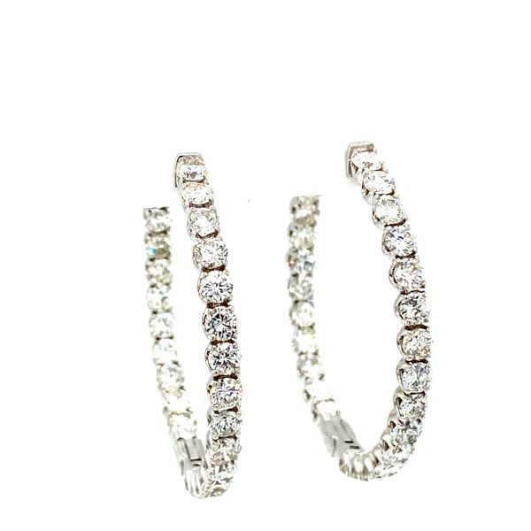 Diamond Hoop Earrings Toner Jewelers Overland Park, KS