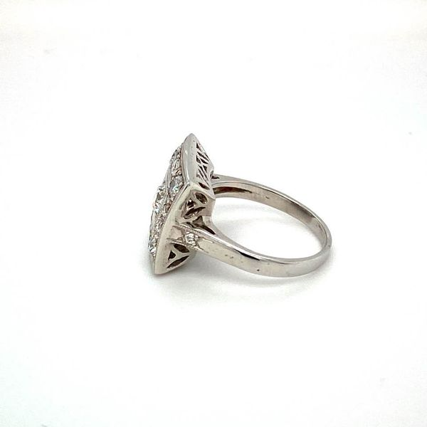 Estate Diamond Square Ring Image 3 Toner Jewelers Overland Park, KS