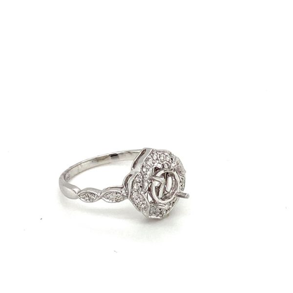 Milgrain Vintage Engagement Ring Setting Image 3 Toner Jewelers Overland Park, KS