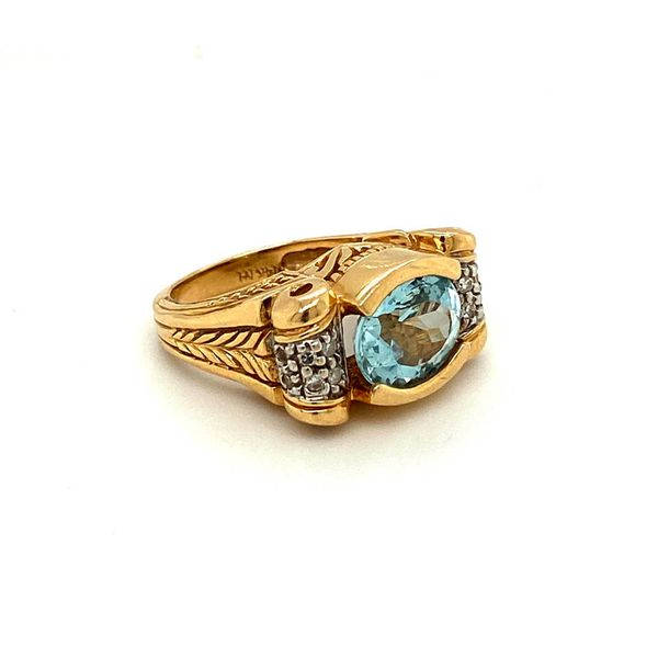 Estate Hand-Carved Aquamarine Ring Toner Jewelers Overland Park, KS