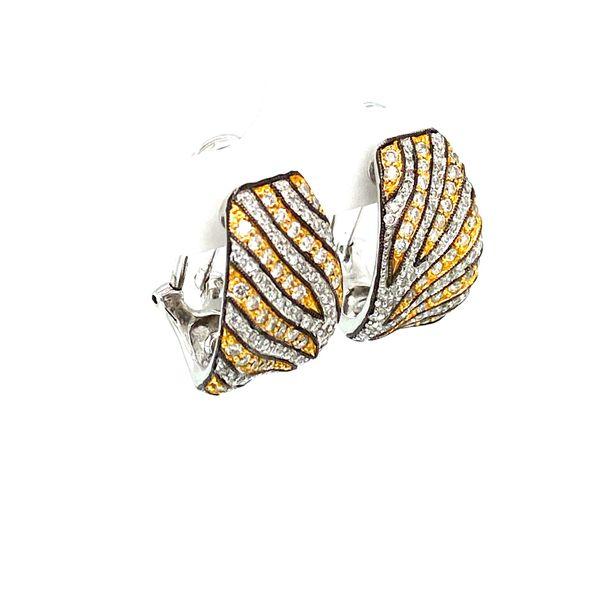 Estate Diamond Zebra Earrings  Image 2 Toner Jewelers Overland Park, KS
