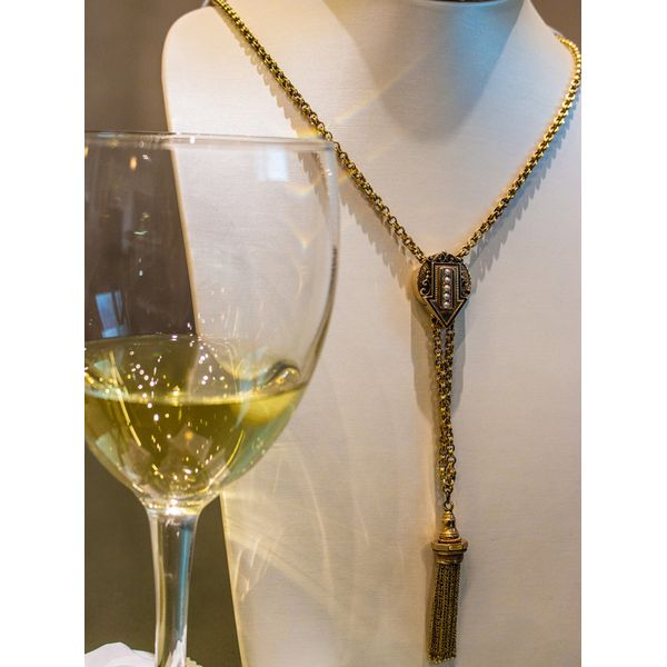Antique Pearl & Gold Tassel Necklace Toner Jewelers Overland Park, KS