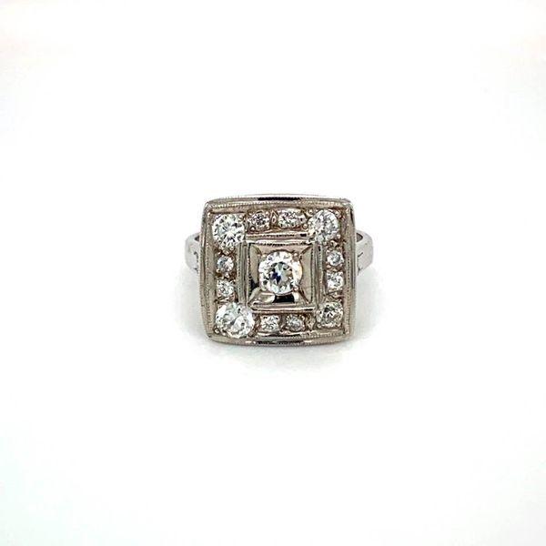 Estate Diamond Square Ring Toner Jewelers Overland Park, KS