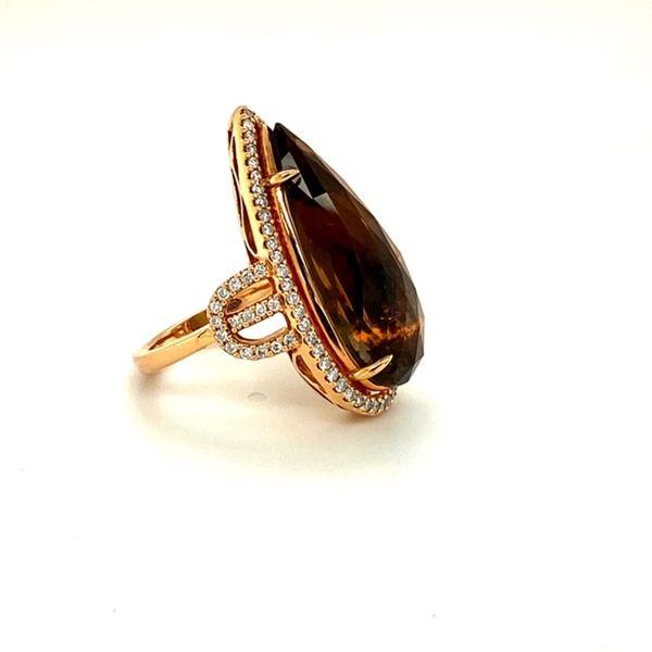 Estate Rose Gold Ring with Smokey Quartz Image 2 Toner Jewelers Overland Park, KS