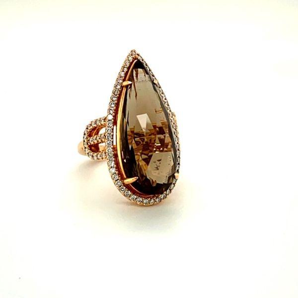 Estate Rose Gold Ring with Smokey Quartz Image 3 Toner Jewelers Overland Park, KS