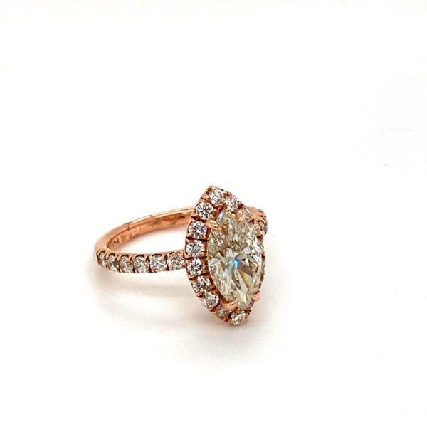 Rose Gold, Marquise Engagement Ring  Image 3 Toner Jewelers Overland Park, KS
