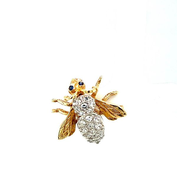 Estate Diamond Bee Brooch Image 2 Toner Jewelers Overland Park, KS
