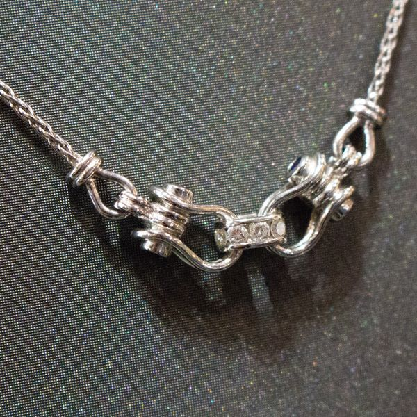 silver antique necklace with buckle