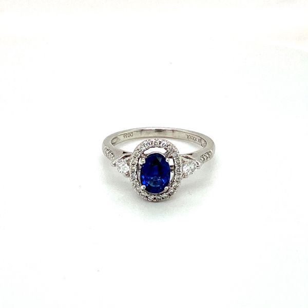 Sapphire and Diamond Ring Image 3 Toner Jewelers Overland Park, KS