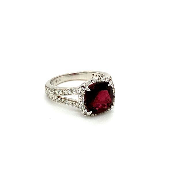 Garnet and Diamond Ring Image 3 Toner Jewelers Overland Park, KS