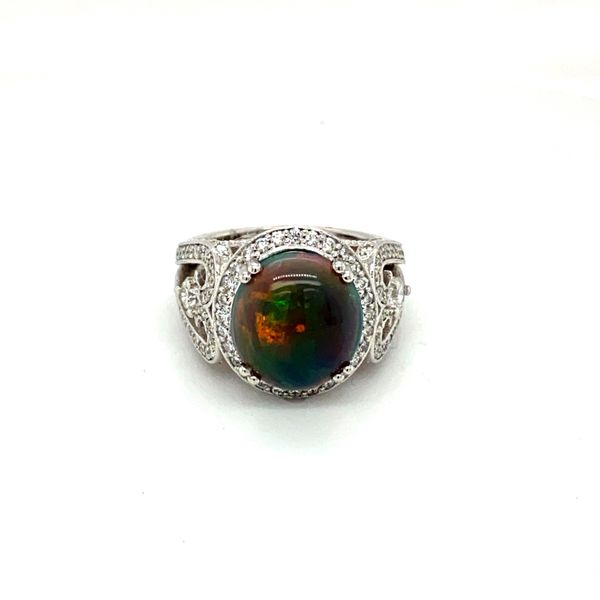 Black Opal and Diamond Ring Toner Jewelers Overland Park, KS