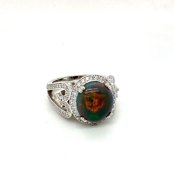 Black Opal and Diamond Ring Image 2 Toner Jewelers Overland Park, KS