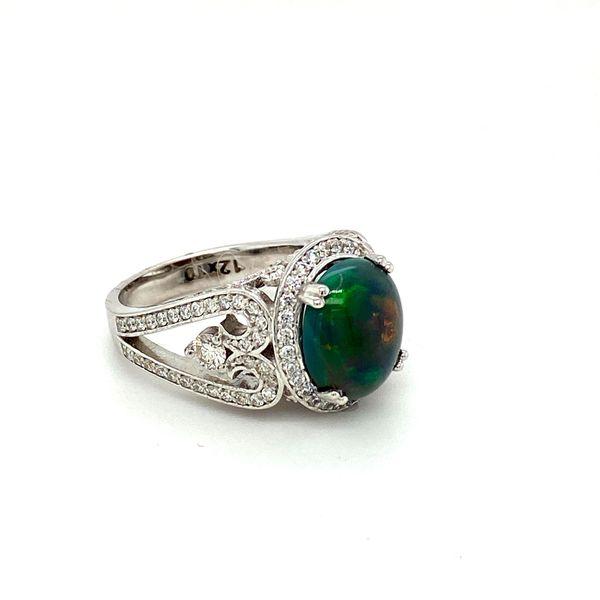 Black Opal and Diamond Ring Image 3 Toner Jewelers Overland Park, KS