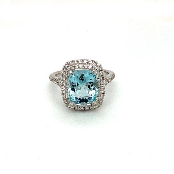 Aquamarine and Diamond Ring Toner Jewelers Overland Park, KS