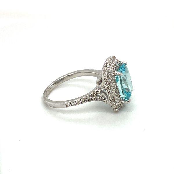 Aquamarine and Diamond Ring Image 3 Toner Jewelers Overland Park, KS