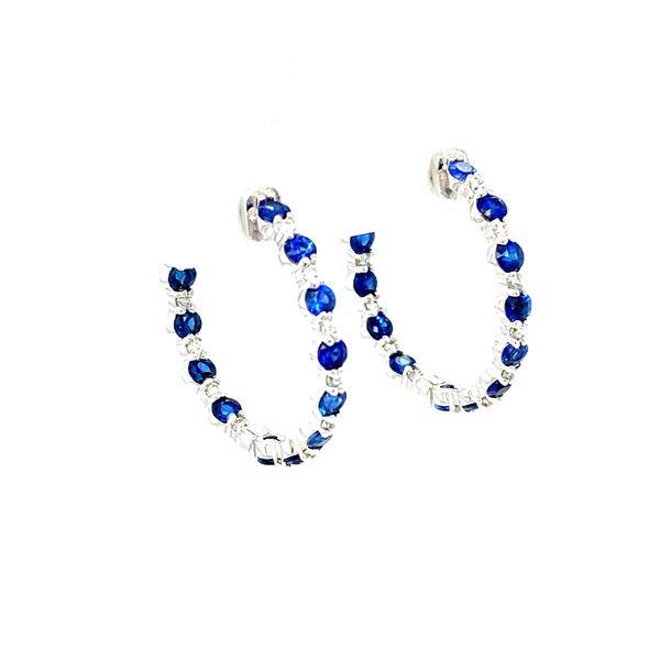 Sapphire and Diamond Earrings Image 2 Toner Jewelers Overland Park, KS