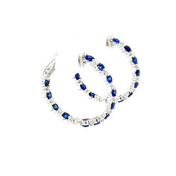 Sapphire and Diamond Earrings Image 3 Toner Jewelers Overland Park, KS