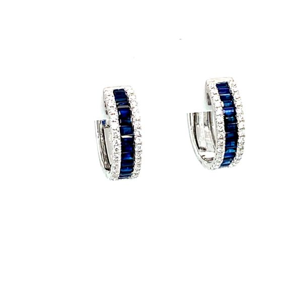 Sapphire Hoop Earrings with Diamonds Toner Jewelers Overland Park, KS
