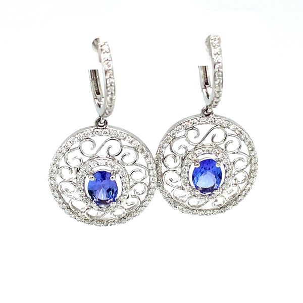 Tanzanite Vintage Earrings Toner Jewelers Overland Park, KS