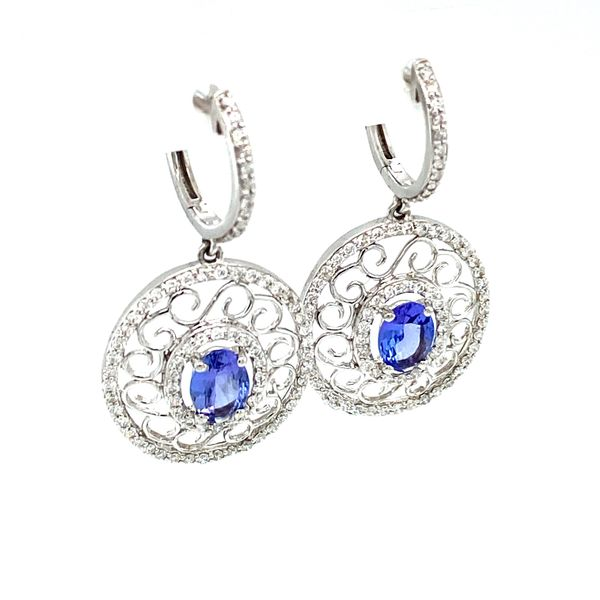 Tanzanite Vintage Earrings Image 2 Toner Jewelers Overland Park, KS