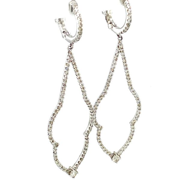 Diamond Drop Earrings Image 2 Toner Jewelers Overland Park, KS