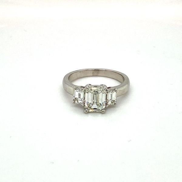Estate Diamond Emerald Cut Ring Toner Jewelers Overland Park, KS