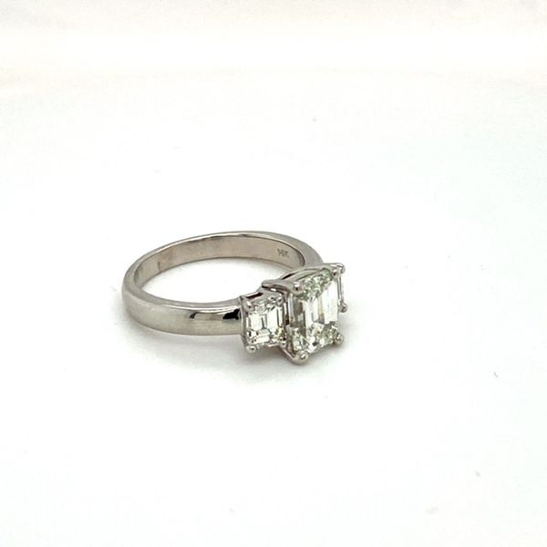 Estate Diamond Emerald Cut Ring Image 2 Toner Jewelers Overland Park, KS