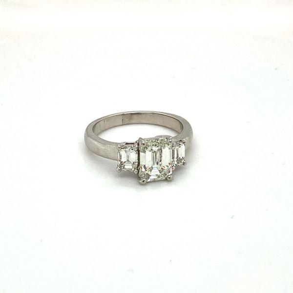 Estate Diamond Emerald Cut Ring Image 3 Toner Jewelers Overland Park, KS