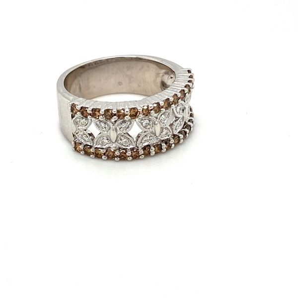 Estate Diamond Lattice Ring with Brown Diamonds Image 2 Toner Jewelers Overland Park, KS