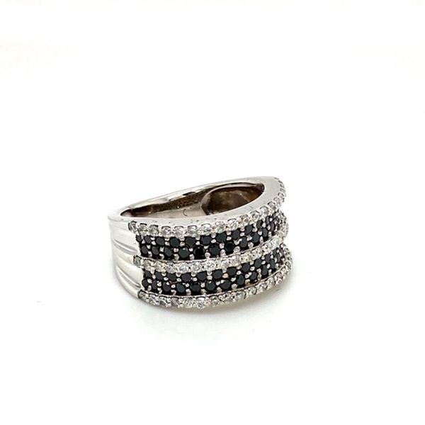 Estate White and Black Diamond Ring Image 2 Toner Jewelers Overland Park, KS