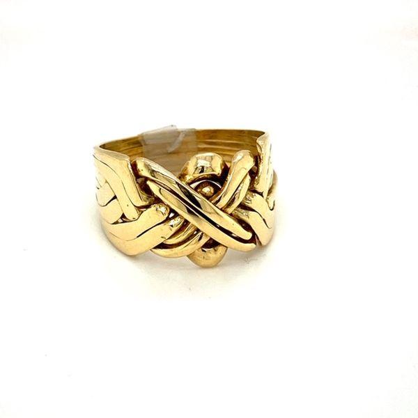 Estate Gold Puzzle Ring Image 2 Toner Jewelers Overland Park, KS