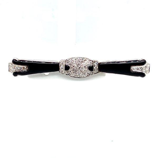 Estate Diamond and Onyx Brooch Toner Jewelers Overland Park, KS