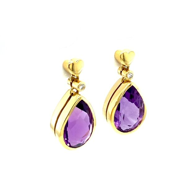 Estate Amethyst Earrings  Image 2 Toner Jewelers Overland Park, KS