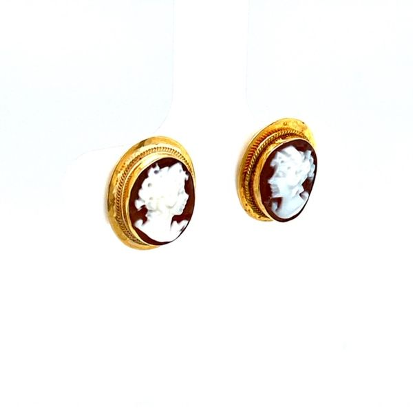 Estate Cameo Earrings  Image 2 Toner Jewelers Overland Park, KS