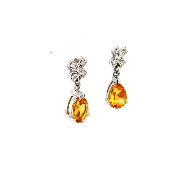 Estate Citrine Earrings Image 2 Toner Jewelers Overland Park, KS