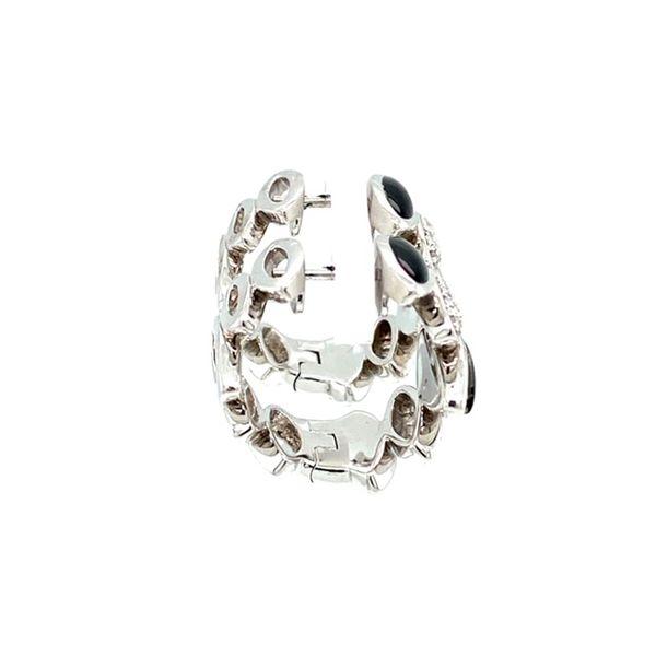 Estate Diamond and Onyx Earrings Image 3 Toner Jewelers Overland Park, KS